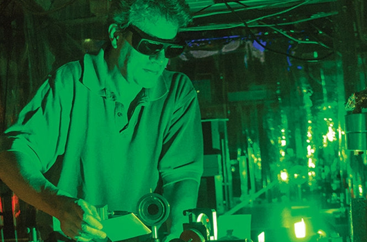 Howard Milchberg in Intense Laser Matter Interactions Lab