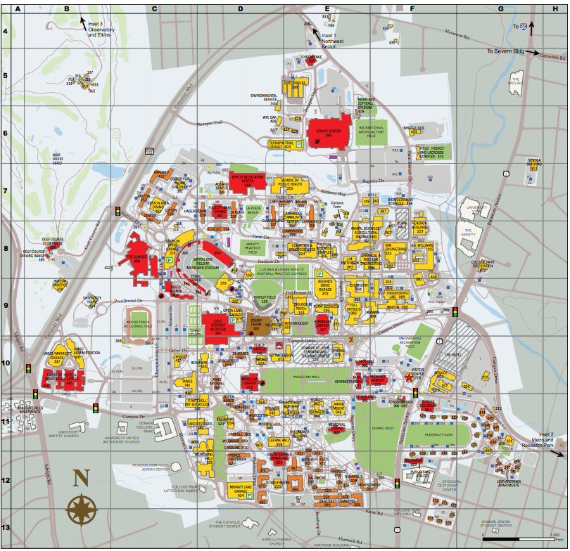 university of md campus map University Of Md Campus Map Map Of The World university of md campus map