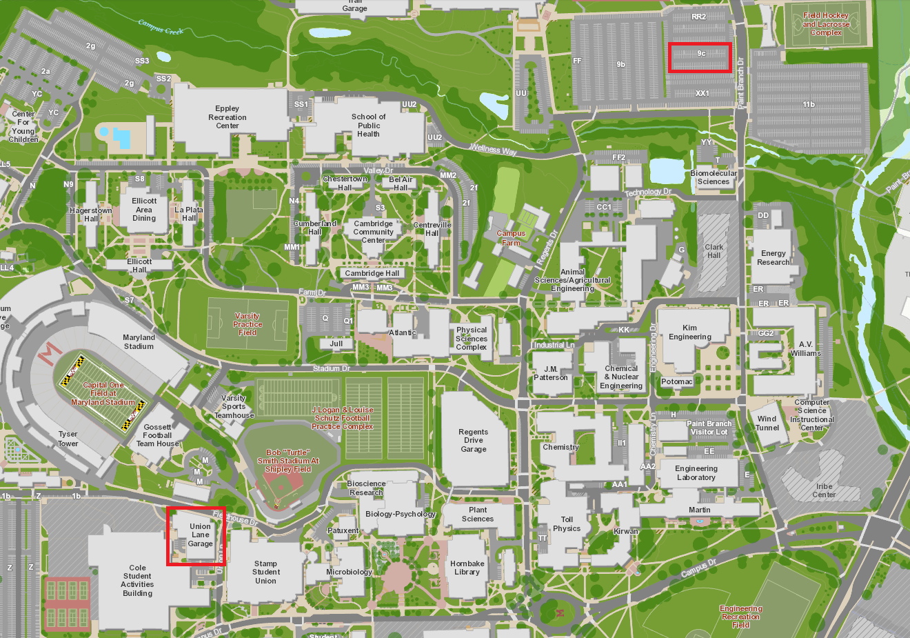University Of Maryland Parking Maps And App